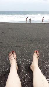 Black sand beach in Monterrico