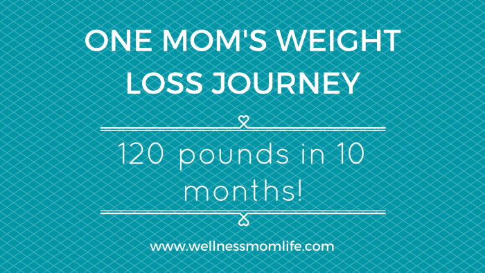 one mom's weight loss journey