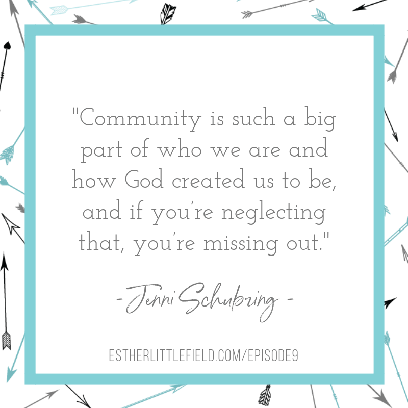 Jenni Schubring quote about community | Discovering Your Strengths Episode 9 - Christian Woman Leadership Podcast