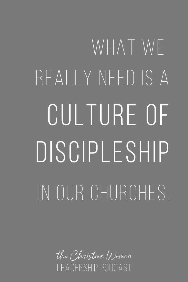 We need a culture of discipleship