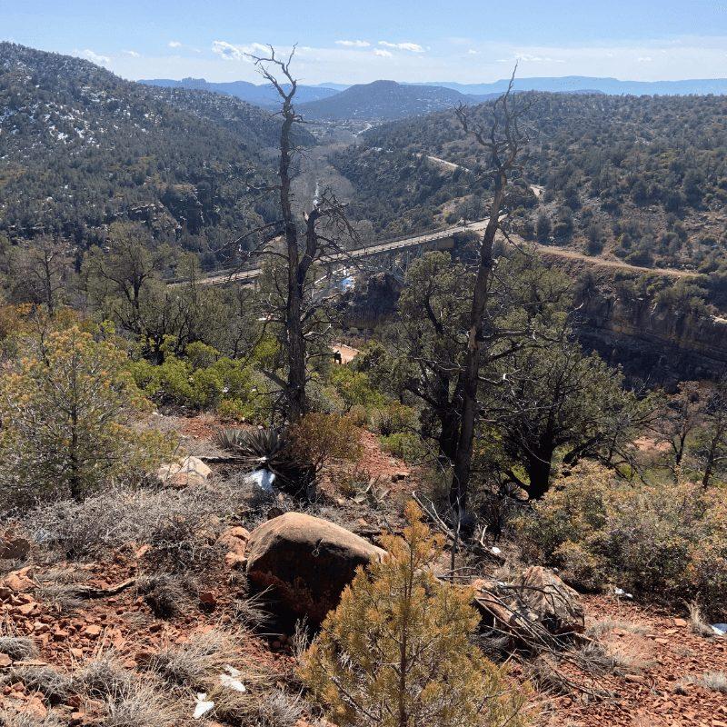 Oak Creek Canyon bridge from up high