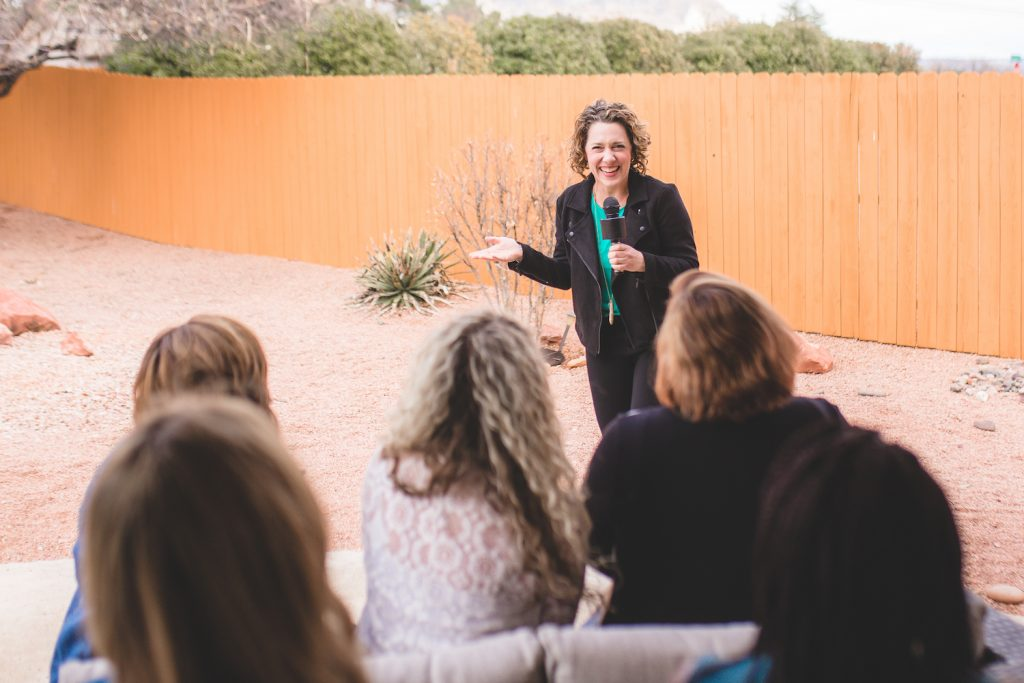 Esther Littlefield speaking in Sedona