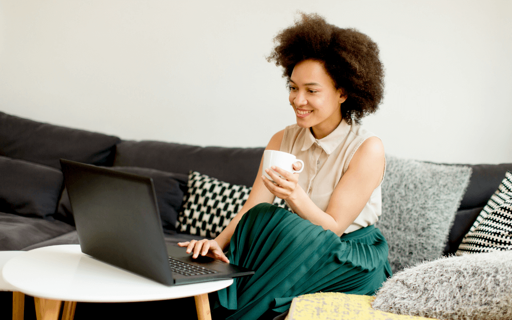 woman on couch - how to assess if your marketing is working