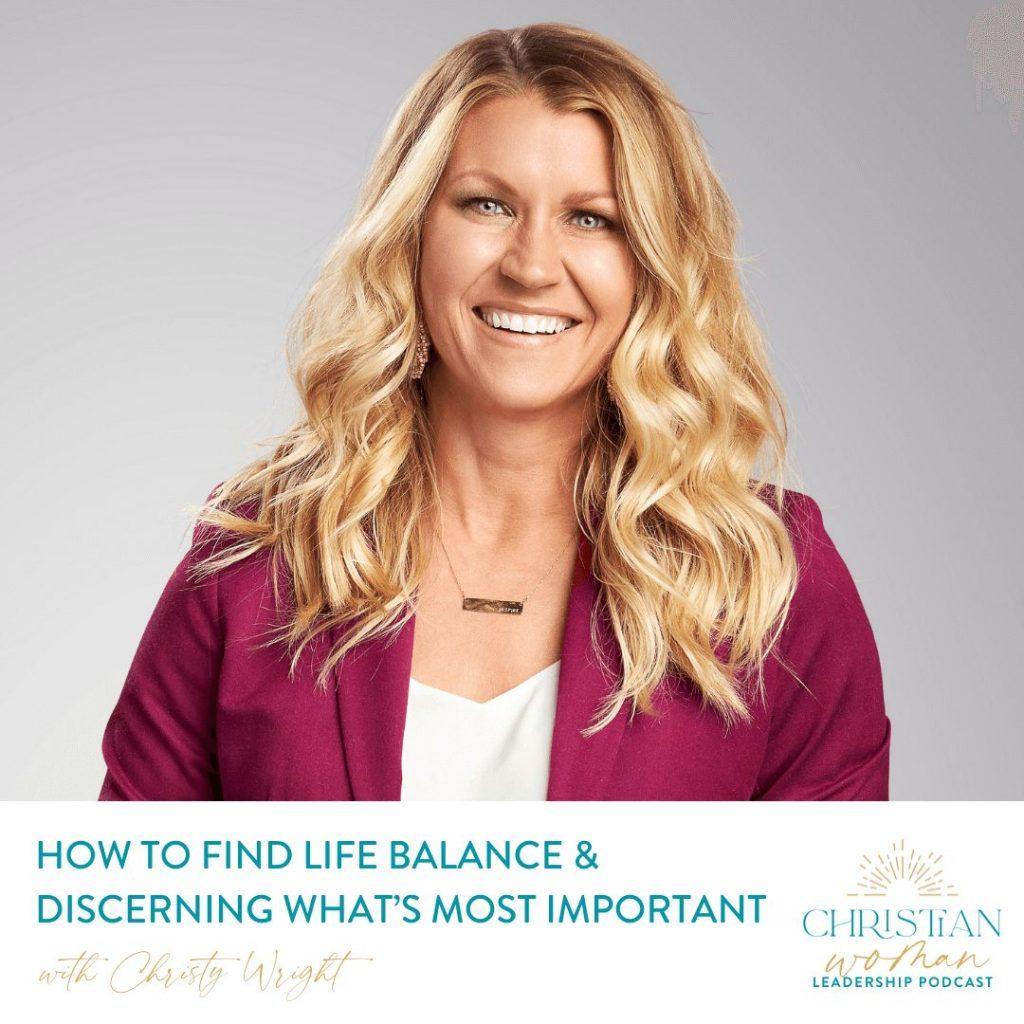 How to find life balance - Christy Wright headshot